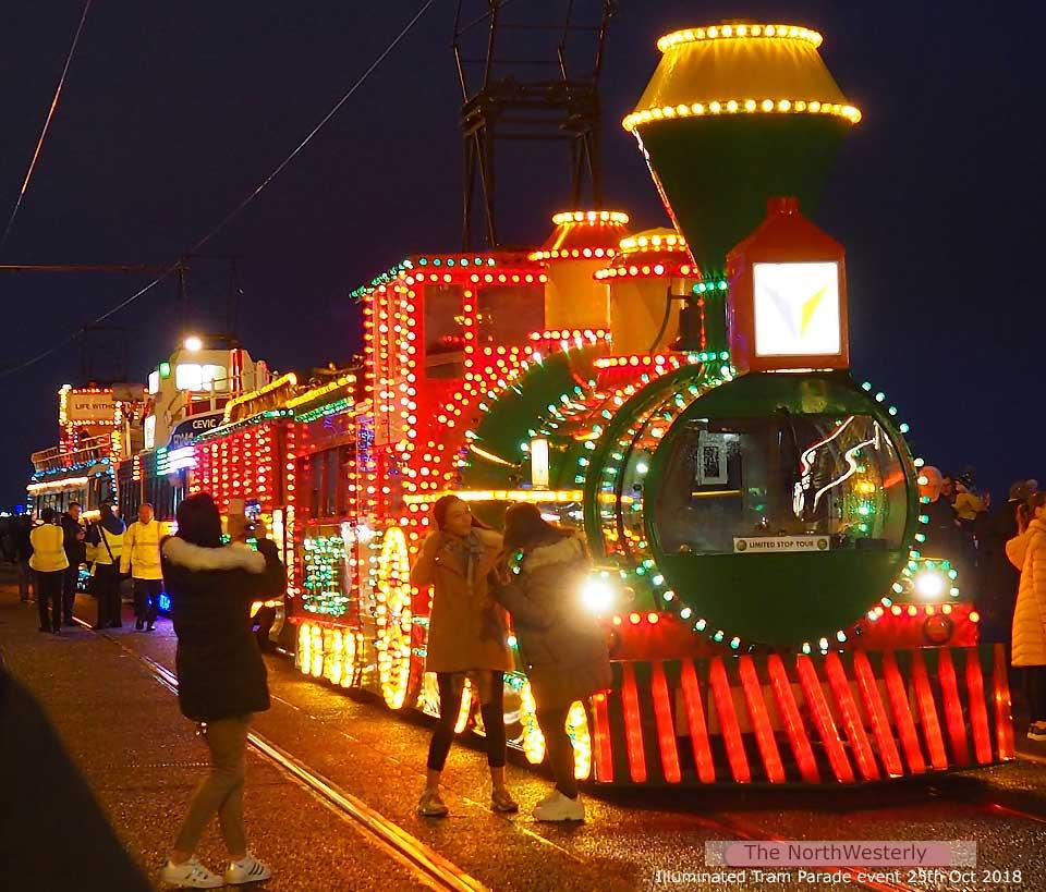 Blackpool Illuminated Tram Parade 25th October 2018