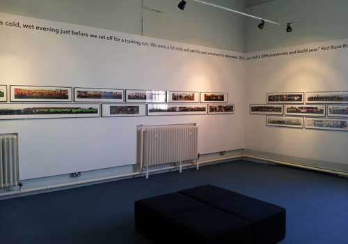 Preston people panorama at the Museum of Lancashire. Two rooms of photos.
