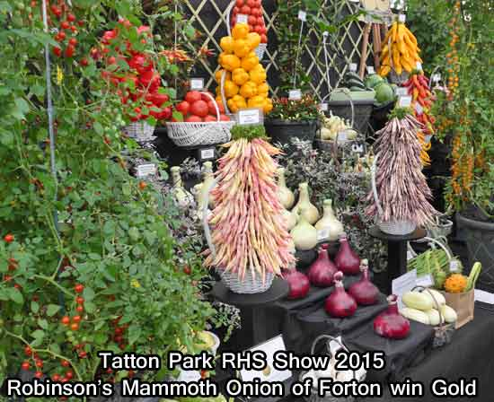 Robinson's of Forton win Gold at Tatton Park RHS Show 2015