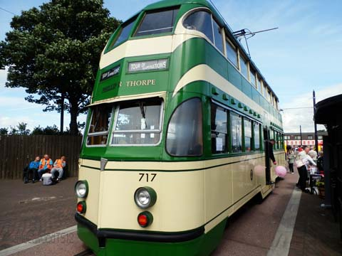 Blackpool Balloon Tram made in Preston in the 1930's at Fleetwood Tram Sunday 2012