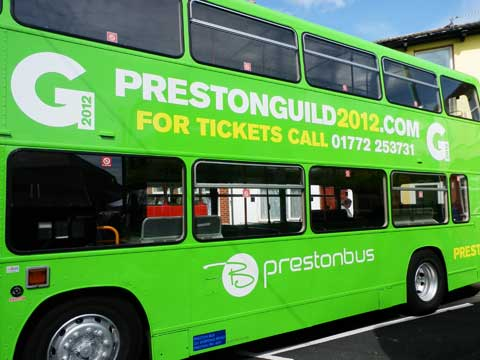 Preston Guild  Bus at Fleetwood