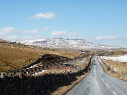 Road from Garsdale to Kirky Stephen and Settle Carlisle line