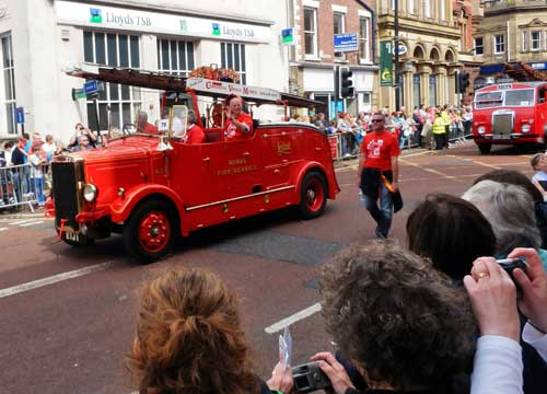 Preston Guild Trades Procession - British Commercial Vehicle Museum Leyland brought their Fire Engine
