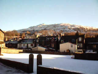 Ambleside overlooked by Wansfell Pike.