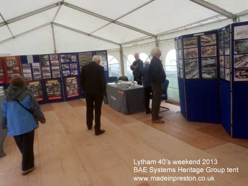 BAE Systems Heritage Group at Lytham 40s weekend 17th August 2013