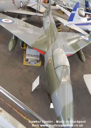 Hawker Hunter made in Blackpool