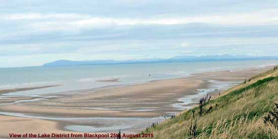 View of Lake District from Blackpool