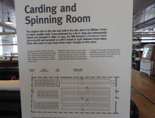 Helmshore Mills Textile Museum - carding and spinning room