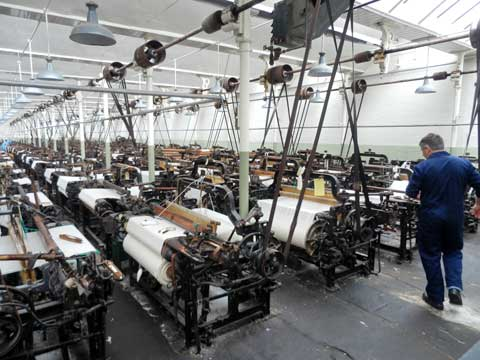 typical Lancashire weaving shed (Queen Street Mill Textile Museum Burnley)