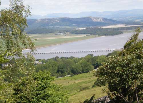 Arnside bridge from Arnside Knott