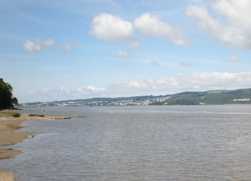 Grange-over-Sands from Arnside
