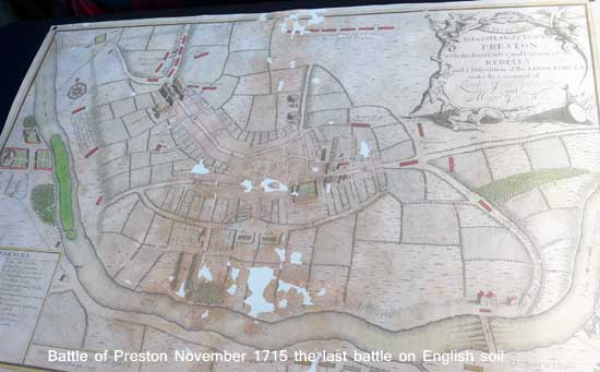 Map of the Battle of Preston