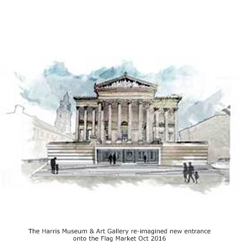re-imagining the Harris, Preston, new frontage