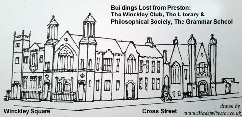 The Literary and Philosophical Society once on Winckley Square Preston