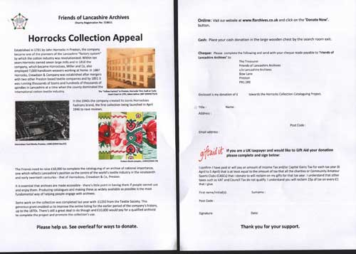 Horrocks Collection Appeal 2016