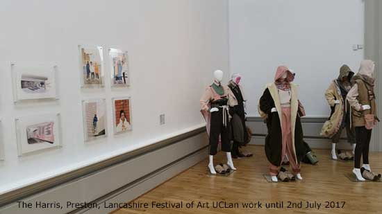 Lancashire Festival of Art, work by UCLan students June to 2nd July 2017