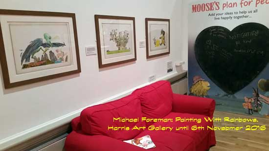Michael Foreman: Painting with Rainbows at the Harris, Preston