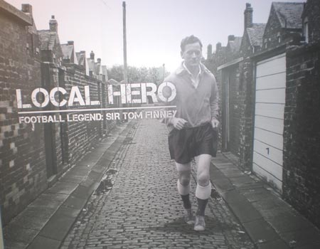 Sir Tom Finney - Local Hero lifesize photo at the museum