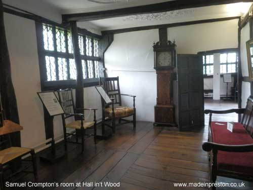 The room in which Samuel Crompton worked: