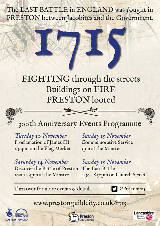 Commemoration events Battle of Preston-1715