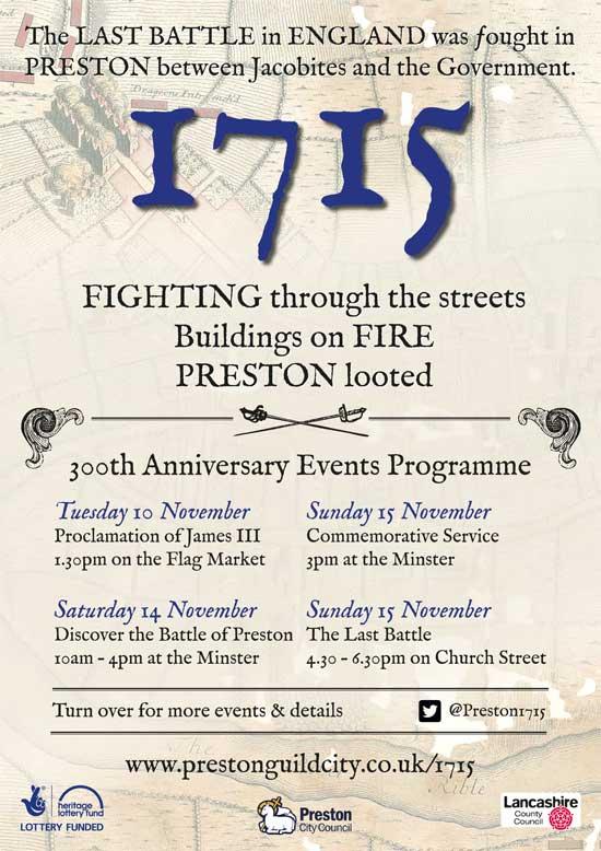 Commemoration events Battle of Preston-1715