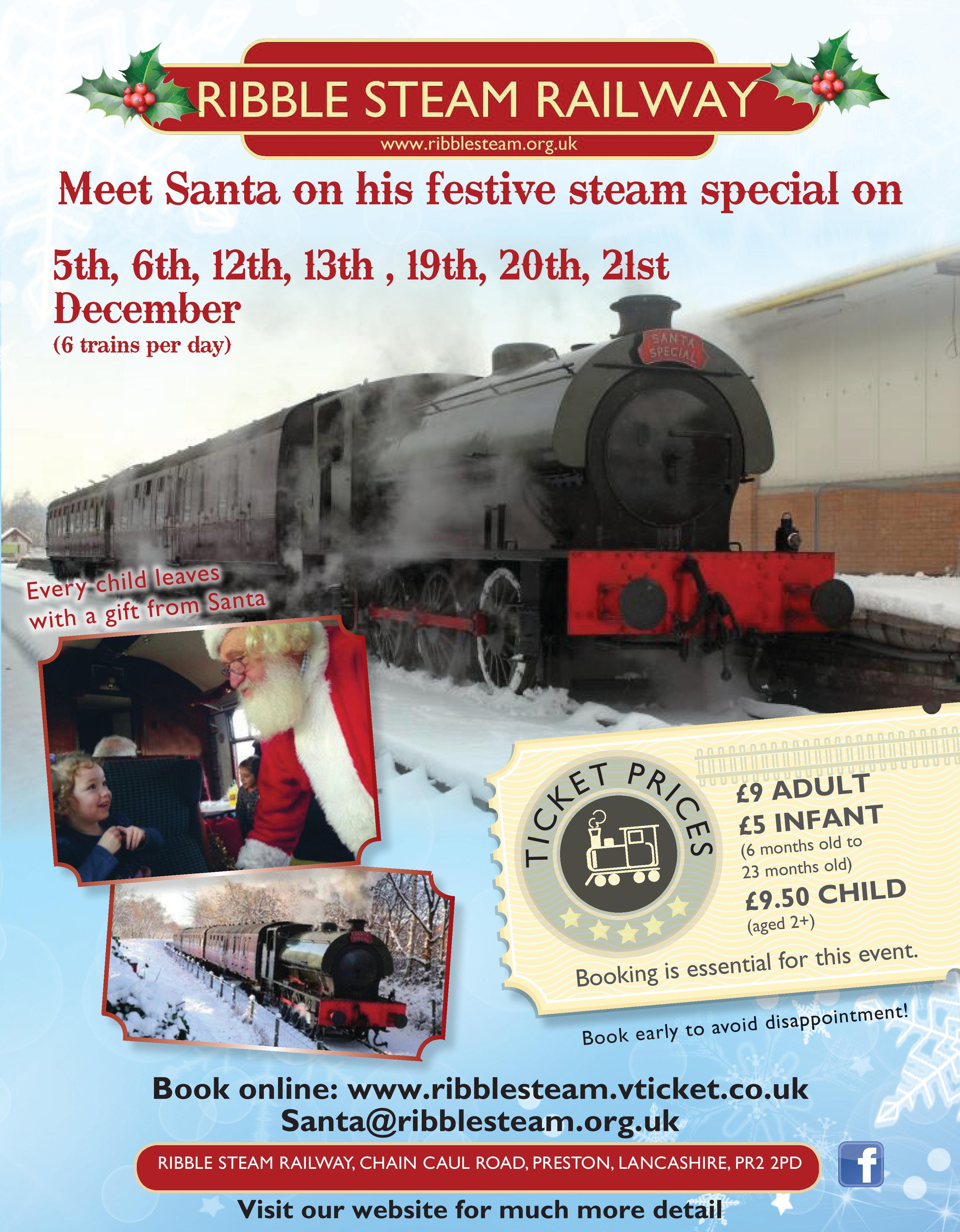 Ribble Steam Railway Santa Specials 2015
