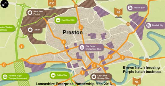 Developments Planned around Preston