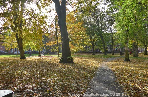 Autumn View in Preston, Winckley Square