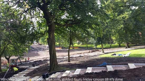 Winckley Square restoration work
