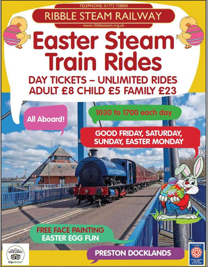 Ribble Steam Railway at Easter 2017