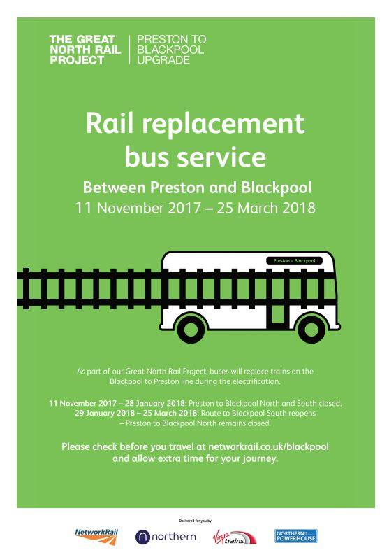 Rail Replacement Buses 11th Nov 2017 to 25th March 2018