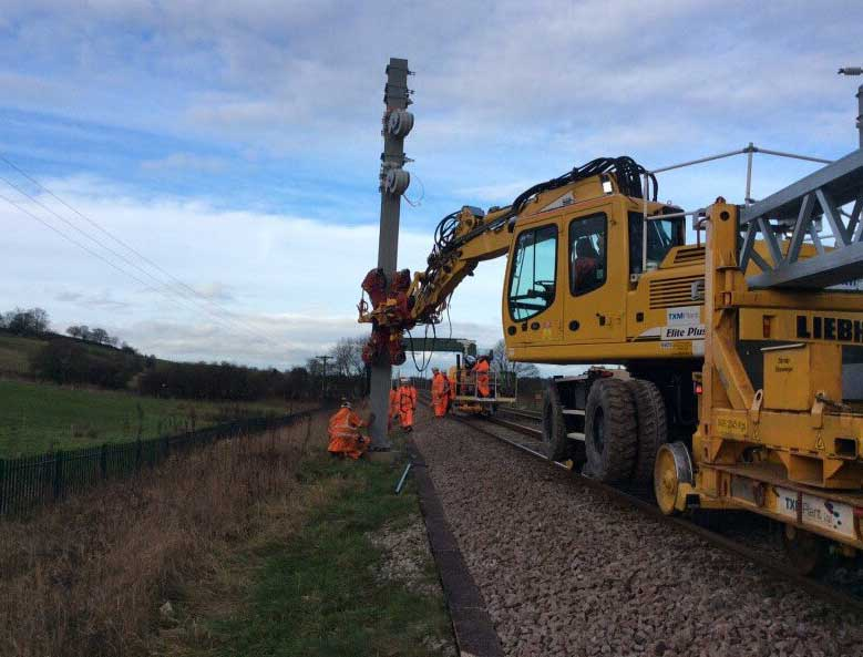 Rail Piling for Electrification