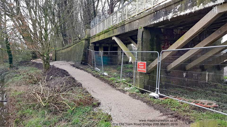 The Old Bridge fenced off 20th March 2019
