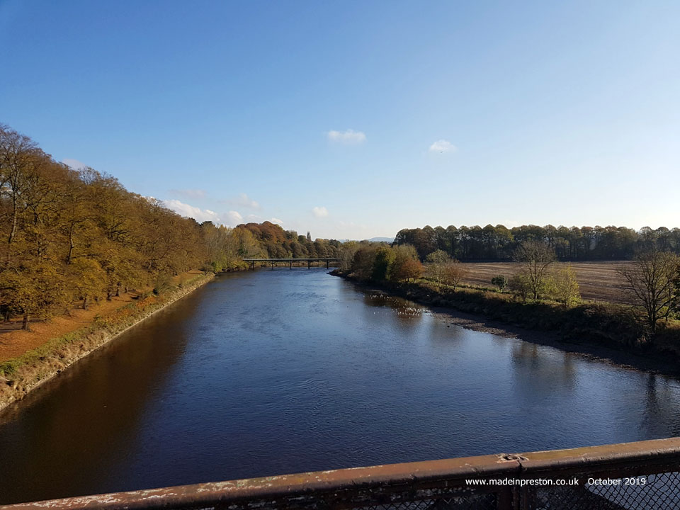 The River Ribble from the old East Lancs railway bridge